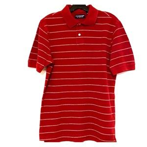 Roundtree & Yorke Small Red Polo Shirt Tee EUC